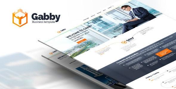 Gabby - PSD website. Desktop and Mobile version - Business Corporate