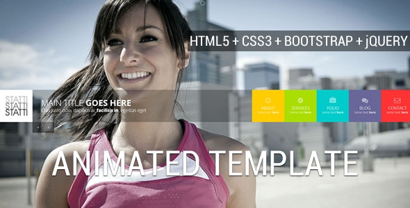 Statti - Responsive Bootstrap Animated Template - Creative Site Templates