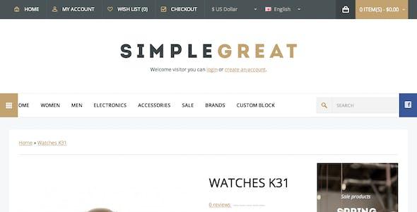 SimpleGreat – Premium Responsive OpenCart theme!