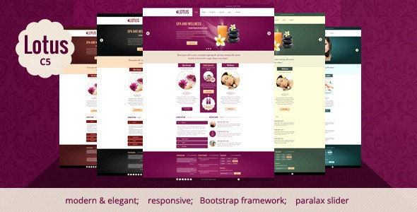 Lotus - Spa & Wellness Concrete5 Theme - Concrete5 CMS Themes