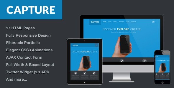 Capture - Responsive Bootstrap HTML Theme - Corporate Site Templates