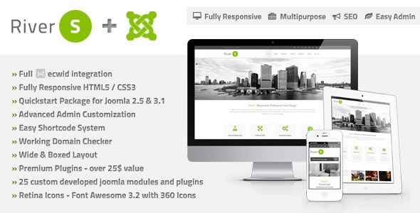 RiverS Responsive Multi-Purpose Joomla Template - Hosting Technology