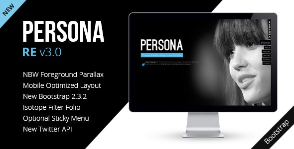Persona - HTML5 Responsive Creative Parallax - Portfolio Creative