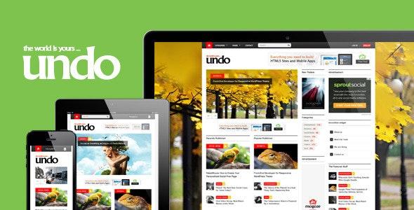 Undo - Responsive 1230px HTML5 Template - Creative Site Templates