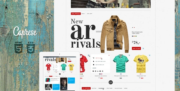Caprese - Modern E-Commerce Template - Shopping Retail