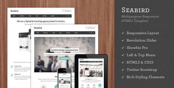 Seabird - Multipurpose Responsive HTML5 Template - Creative Site Templates