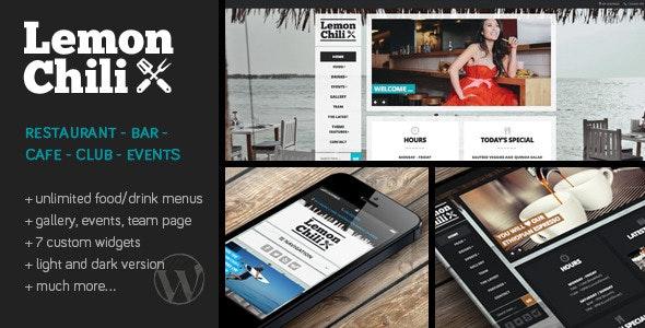 LemonChili - A Restaurant WordPress Theme - Restaurants & Cafes Entertainment
