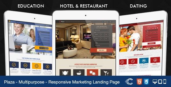 Plaza - Education - Hotel - Dating Landing - Marketing Corporate