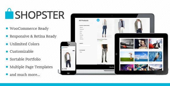 Shopster - Retina Responsive WooCommerce Theme - WooCommerce eCommerce