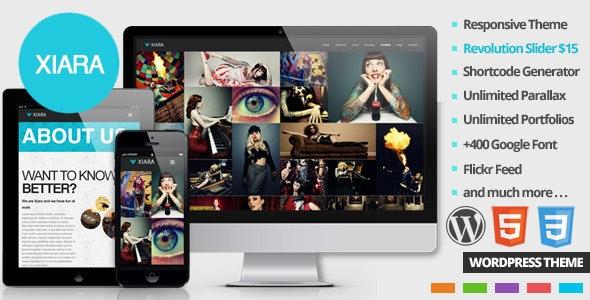 Xiara - Responsive WordPress One Page Parallax - Portfolio Creative