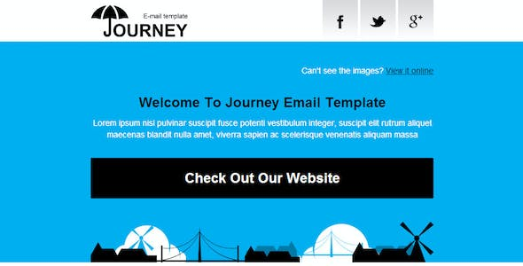 'Journey' - Ultramodern Email Template