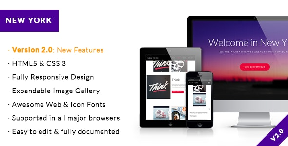 New York - One Page Portfolio & Business Template - Portfolio Creative
