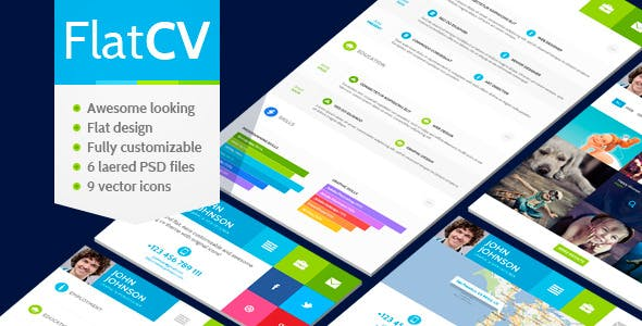Creative Virtual Business Card Psd Templates From Themeforest