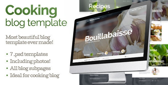 Cooking blog template - Food Retail