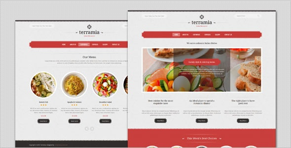 Terramia - Classic Restaurant HTML Template - Restaurants & Cafes Entertainment