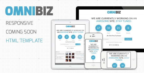 OmniBiz - Responsive Coming Soon Website Template - Under Construction Specialty Pages