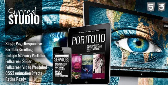 Surreal - Responsive Parallax One Page HTML5 by html5css3templates
