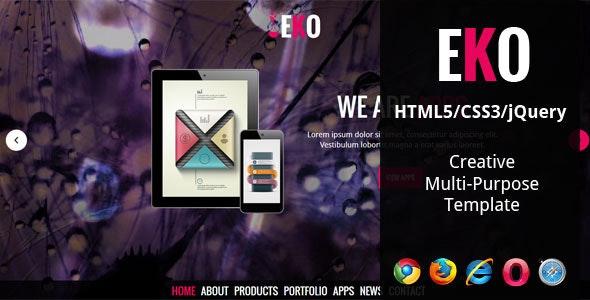 EKO - Creative Multi-Purpose HTML5 Template - Creative Site Templates