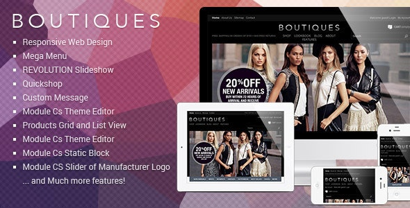Responsive PrestaShop Template - ET Boutique - Fashion PrestaShop