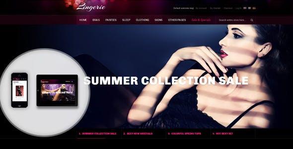 JM Lingerie - Responsive theme for women's apparel store