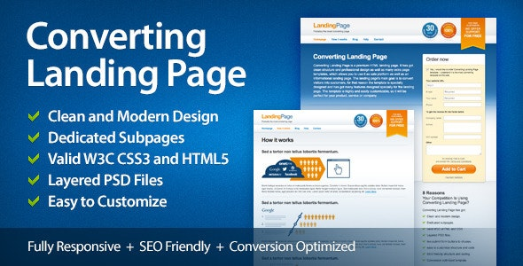 Converting Landing Page - Marketing Corporate
