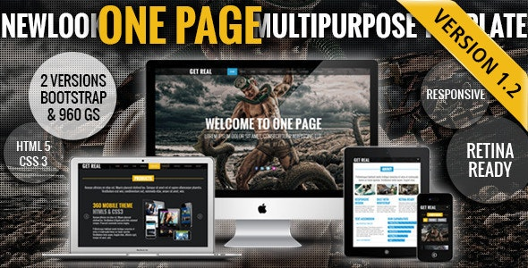 New Look - One Page Responsive Website Template - Portfolio Creative