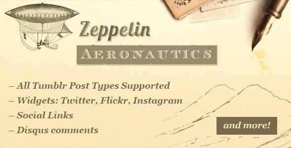 Zeppelin - Vintage Style Tumblr Theme - Blog Tumblr