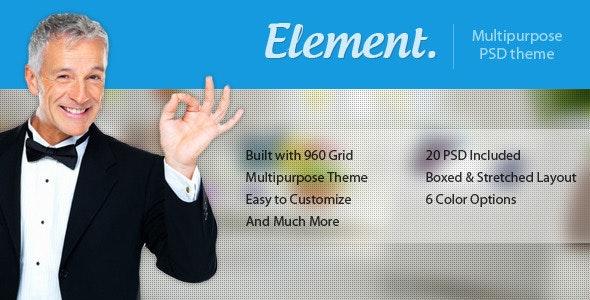 Element - Multi Purpose PSD Template - Corporate Photoshop