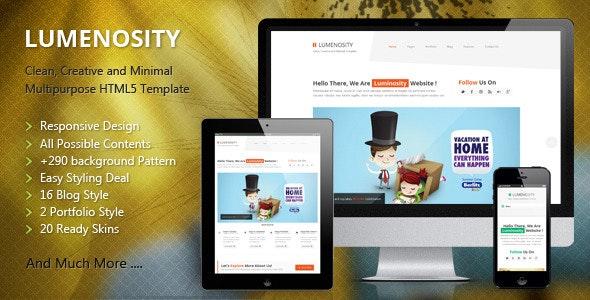 LUMENOSITY - Multipurpose Responsive HTML5 Theme  - Creative Site Templates