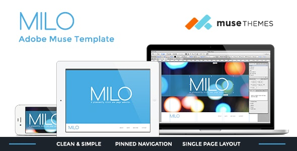 Milo | Slick Muse Template - Creative Muse Templates