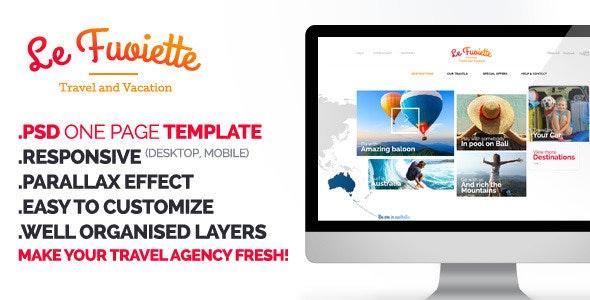 La Fouiette - Travel Agency one page Psd Template - Travel Retail