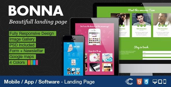 Bonna - Responsive Landing Page - Apps Technology