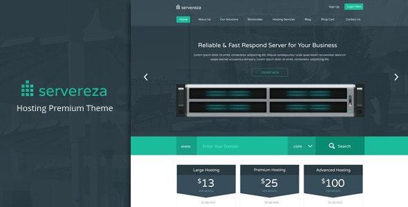 Servereza - Hosting Business Premium PSD Theme - Hosting Technology