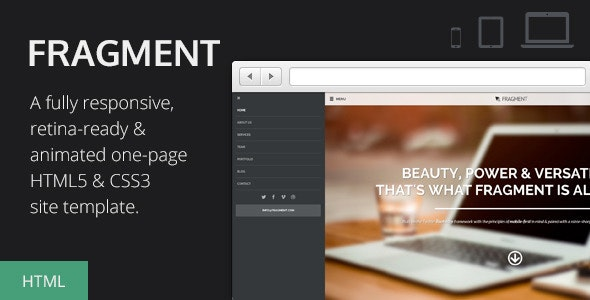 Fragment - Responsive One Page Template - Creative Site Templates