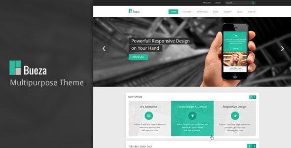 Bueza - Premium Multi Purpose PSD Template - Corporate Photoshop