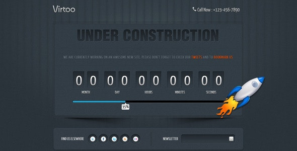 Virtoo – Under Construction Page - Under Construction Specialty Pages