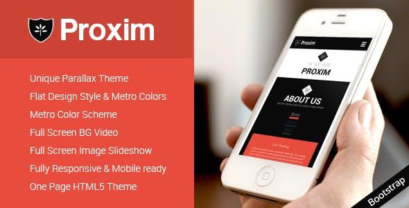 PROXIM - Unique One Page Parallax Responsive HTML5