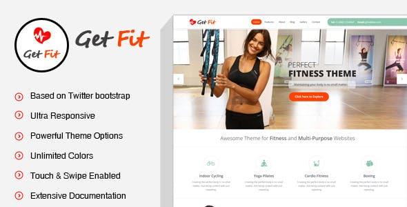 GetFit - Fitness Gym WordPress Theme