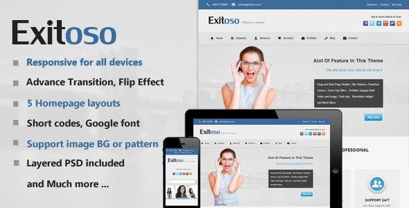 Exitoso Multi-Purpose HTML Template - Business Corporate