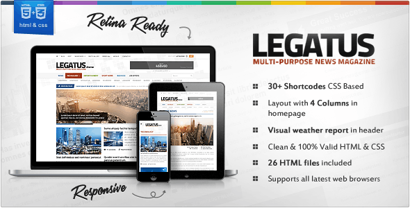 Legatus - Responsive News/Magazine HTML Template - Technology Site Templates
