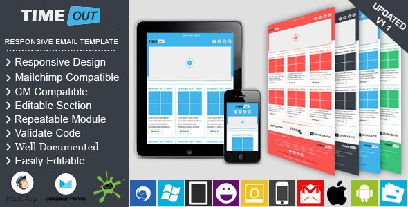 TIMEOUT - Responsive Professional Email Template - Email Templates Marketing
