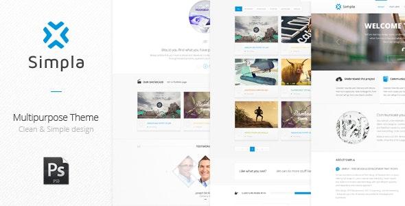 Simpla - Multipurpose Corporate Theme - Corporate Photoshop