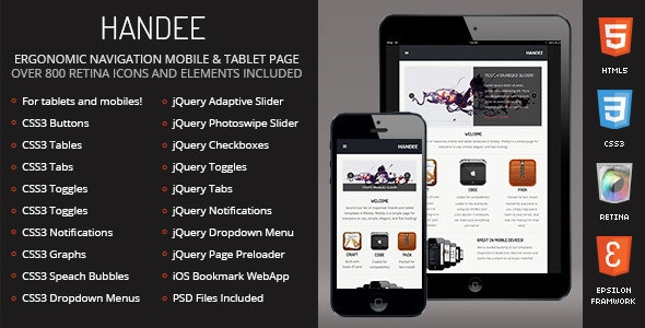 Handee - Mobile Template - Mobile Site Templates