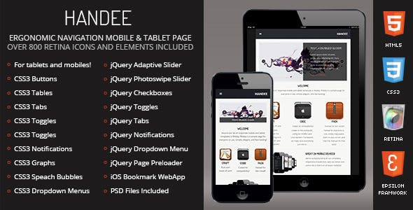 Handee - Mobile Template
