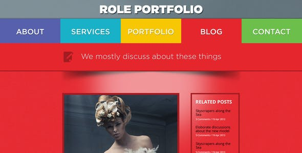 Role - Colorful One Page PSD
