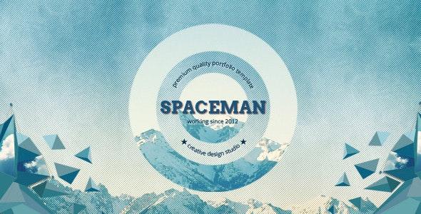 Spaceman - Origami PSD Template - Portfolio Creative