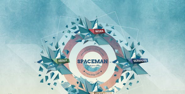 Spaceman - Origami PSD Template