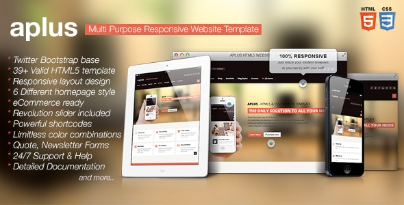 APLUS - Multi Purpose HTML5 Website Template - Retail Site Templates