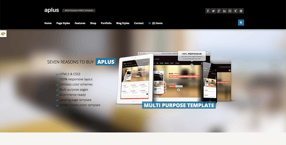 APLUS - Multi Purpose HTML5 Website Template
