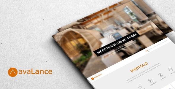 AvaLance - Creative PSD One Page Portfolio Template - Portfolio Creative